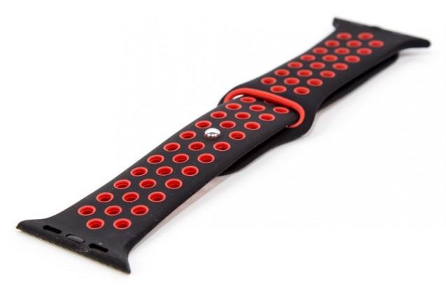 Řemínek pro Apple Watch 42/44 mm a Immax SW10, černá/červená