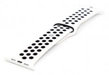 Řemínek pro hodinky, bílá/černá, vhodné pro Apple Watch