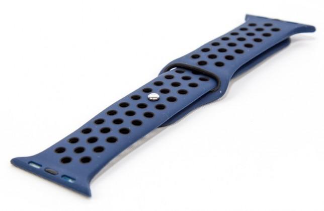 Řemínek pro hodinky, modrá/černá, vhodné pro Apple Watch ROZBALEN