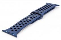 Řemínek pro hodinky, modrá/černá, vhodné pro Apple Watch