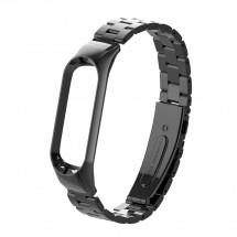 Řemínek pro Xiaomi Mi Band 3/4 ocel. černá