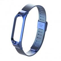 Řemínek pro Xiaomi Mi Band 3/4 ocel. milán, easy click, modrá