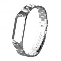 Řemínek pro Xiaomi Mi Band 3/4 ocel. stříbrná