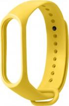 Řemínek pro Xiaomi Mi Band 3/4, silikon, žlutá