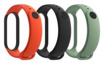Řemínek pro Xiaomi Mi Band 5, 3ks (černá, oranžová, azurová)