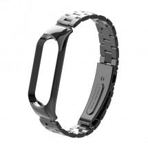 Řemínek pro Xiaomi Mi Band 5 ocel. černá