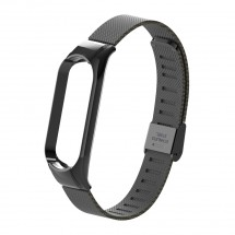 Řemínek pro Xiaomi Mi Band 5 ocel. milán, easy click, černá