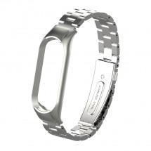 Řemínek pro Xiaomi Mi Band 5 ocel. stříbrná