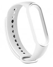 Řemínek pro Xiaomi Mi Band 5, silikon, bílá