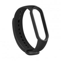 Řemínek pro Xiaomi Mi Band 5, silikon, černá