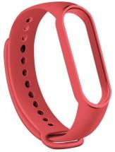 Řemínek pro Xiaomi Mi Band 5, silikon, červená