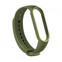 Řemínek pro Xiaomi Mi Band 5, silikon, vojenská zelená