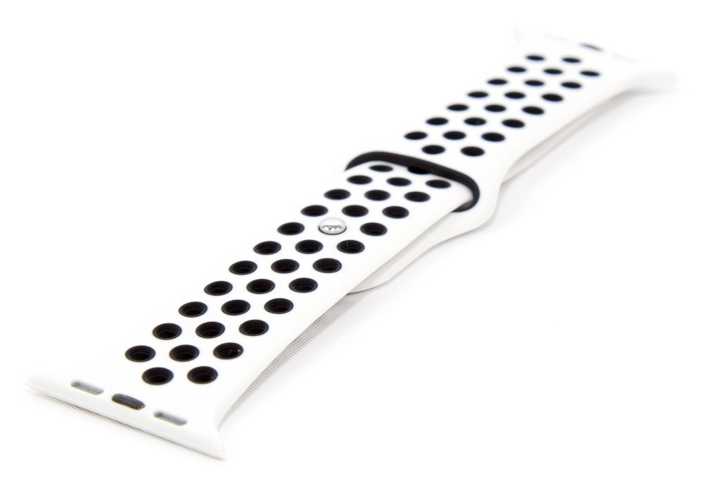 Řemínky na MiBand 3/4 Řemínek pro Apple Watch 42/44 mm a Immax SW10, bílá/černá