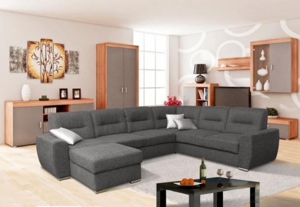 Rendy - Do U, otoman vlevo, rozkládací, úložný prostor (R95)