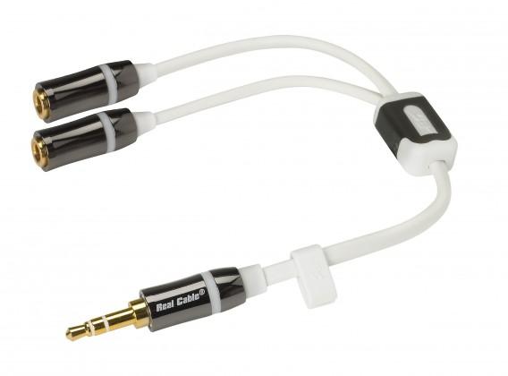 Repro kabely Real cable iPLUG-J35M2F 0,2m ROZBALENO
