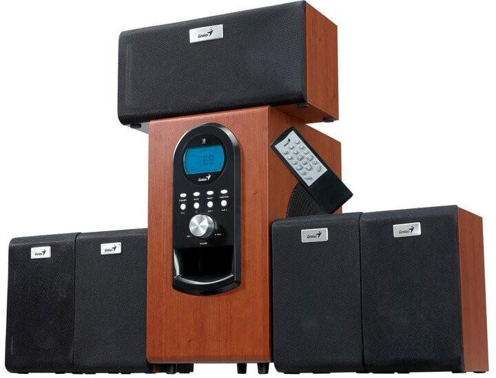 Reproduktory 5.1 Reproduktory Genius SW-HF 5.1 6000 Ver. II, dřevěné
