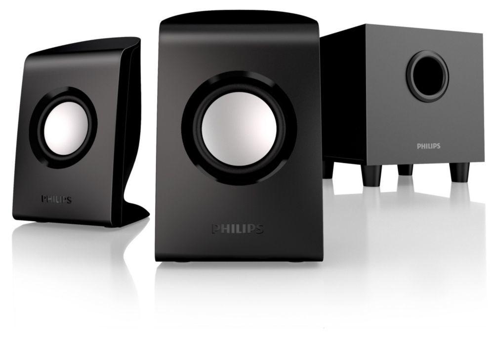 Reprosoustava Philips SPA1330 multimediální reproduktory 2.1, 30W, černé
