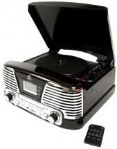 Retro gramofon GPO Memphis, černý