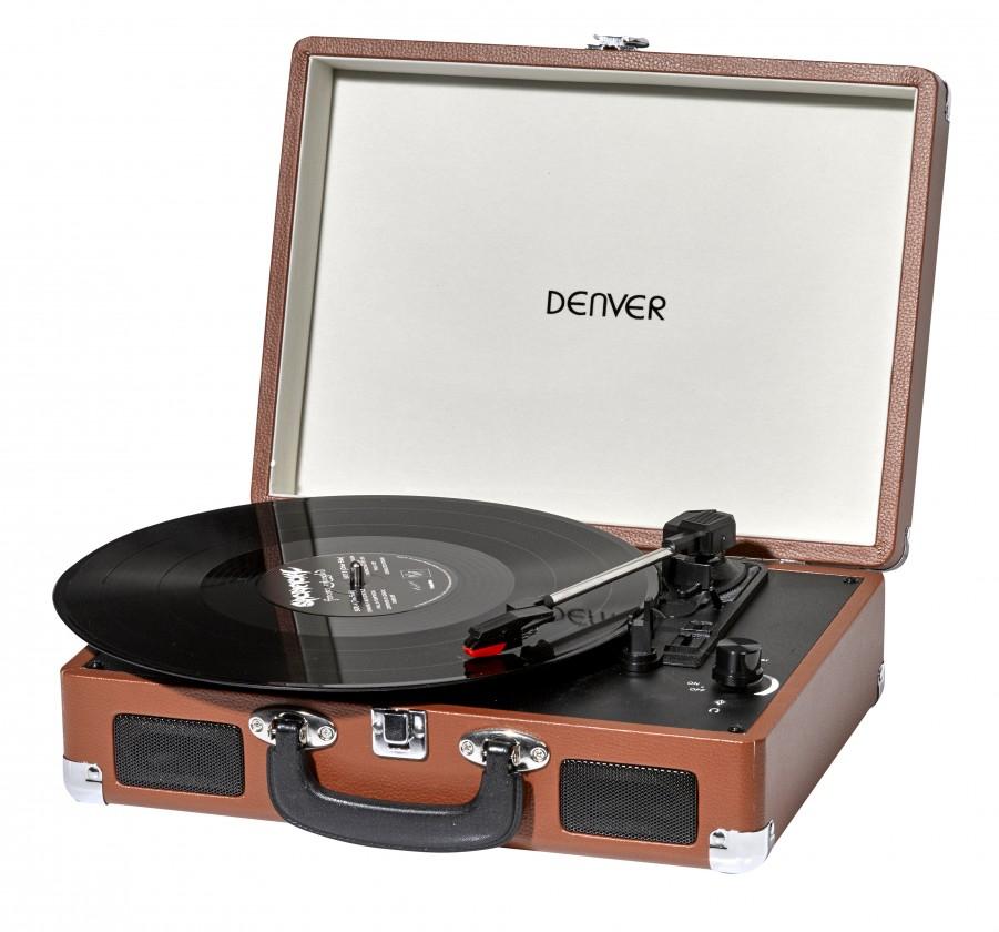 Retro gramofony Gramofon Denver VPL-120, hnědý