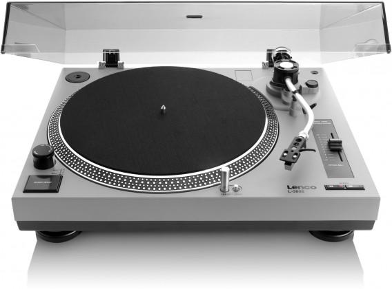 Retro gramofony Lenco L-3808 šedý