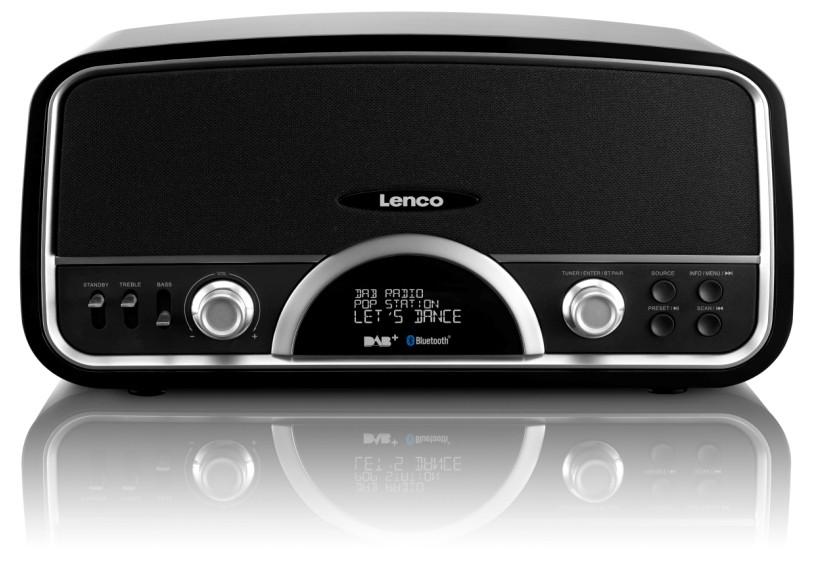 Retrorádio Lenco DR-05 BT, černé