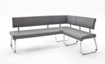 Rohová jídelní lavice Lucile šedá