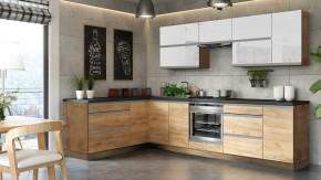 Rohová kuchyně Brick light levý roh 300x182 cm - II. jakost