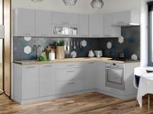 Rohová kuchyně Emilia mat pravý roh 243x143 cm (šedá mat)