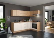 Rohová kuchyně Heidi levý roh 270x150 cm (magnolie, dub)