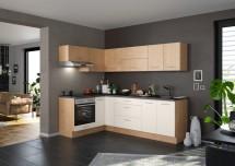 Rohová kuchyně Heidi pravý roh 270x150 cm (magnolie, dub)