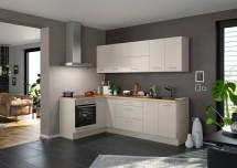 Rohová kuchyně Inge pravý roh 250x150 cm (šedá, dub)