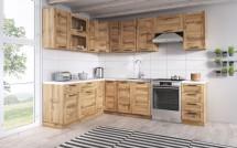 Rohová kuchyně Jamajka levý roh 270x190 cm (dub wotan)