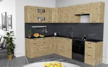 Rohová kuchyně Jorica levý roh 270x190 cm (dub artisan)