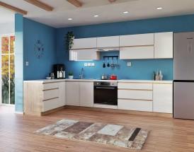 Rohová kuchyně Line levý roh 320x180 cm (bílá lesk/dub sonoma)