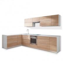 Rohová kuchyně Line levý roh 320x180 cm - II. jakost