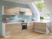 Rohová kuchyně Line pravý roh 320x180 cm (dub sonoma/bílá)