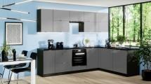 Rohová kuchyně Mindy pravý roh 270x180 cm (šedá mat)