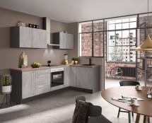 Rohová kuchyně Ute levý roh 250x150 cm (světlý beton)