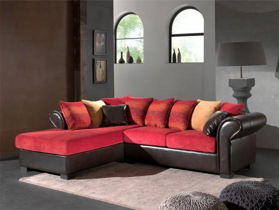 Rohová sedací souprava Bally-levý (k.bycast brown/pol.dubaj16,dubaj04,aztec decorative)