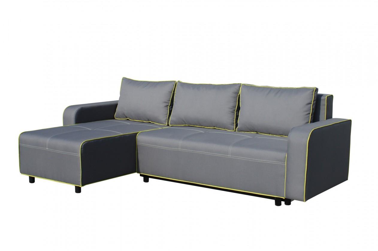 Rohová sedací souprava Black 2 - Roh levý, rozkládací (mura 95/mura 35, paspule)