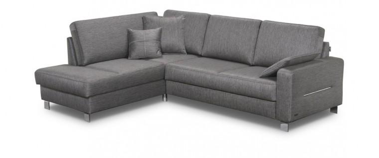 Rohová sedací souprava Costa - Roh levý, rozkládací, úložný prostor (milton 14)