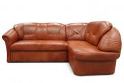 Rohová sedací souprava Granada pravý roh (kůže, hnědá)