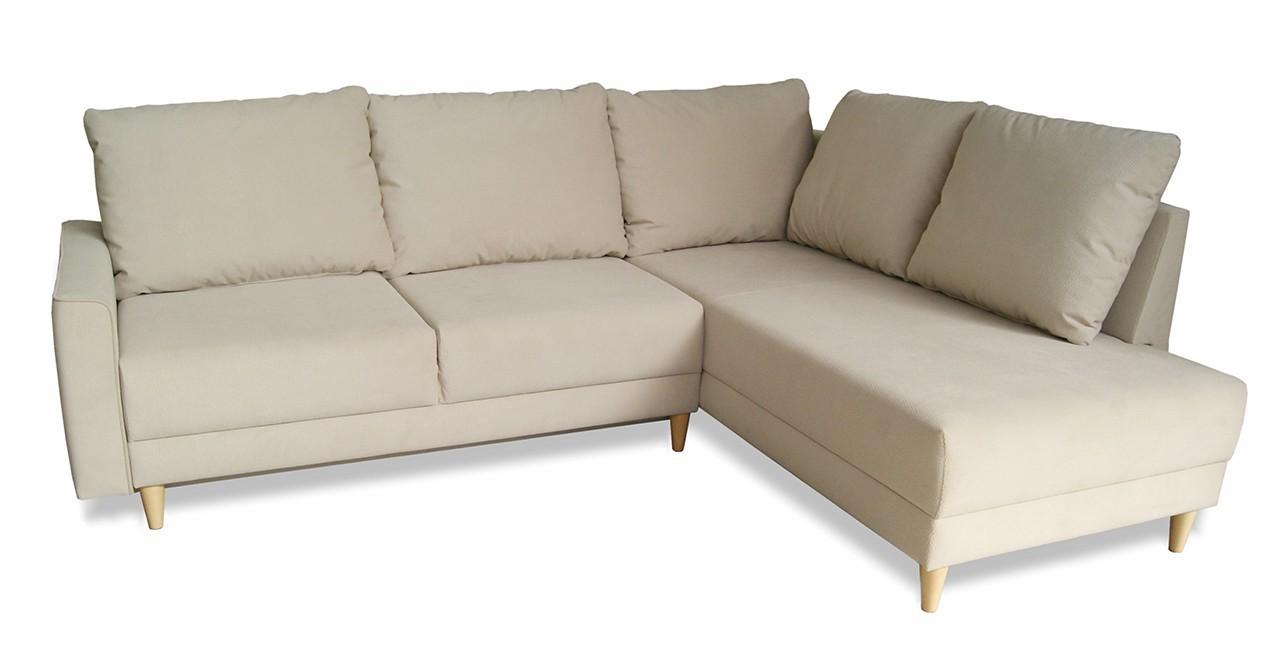 Rohová sedací souprava Izabel - roh pravý, rozkládací, úložný prostor