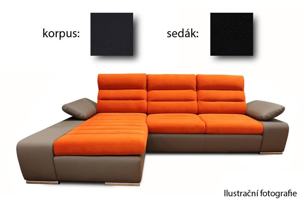 Rohová sedací souprava Korfu - levý roh (soft 11 / aruba 19)