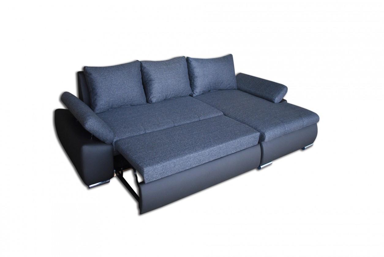 Rohová sedací souprava Loona - Roh levý, rozkládací (madryt 195, korpus/sun 90, sedák)