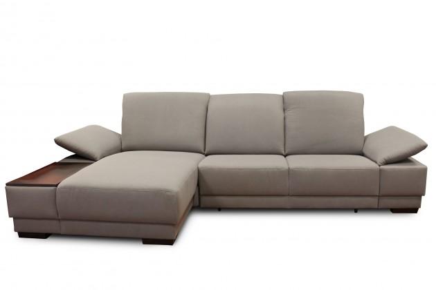 Rohová sedací souprava Nela - levý roh (star 115 silver grey, nohy: dřevo wenge)