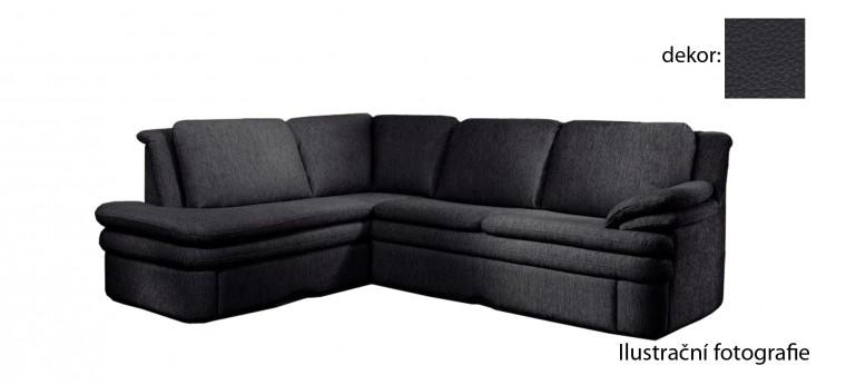 Rohová sedací souprava Ostia - levý roh (excellent - black H360, sk. BF)