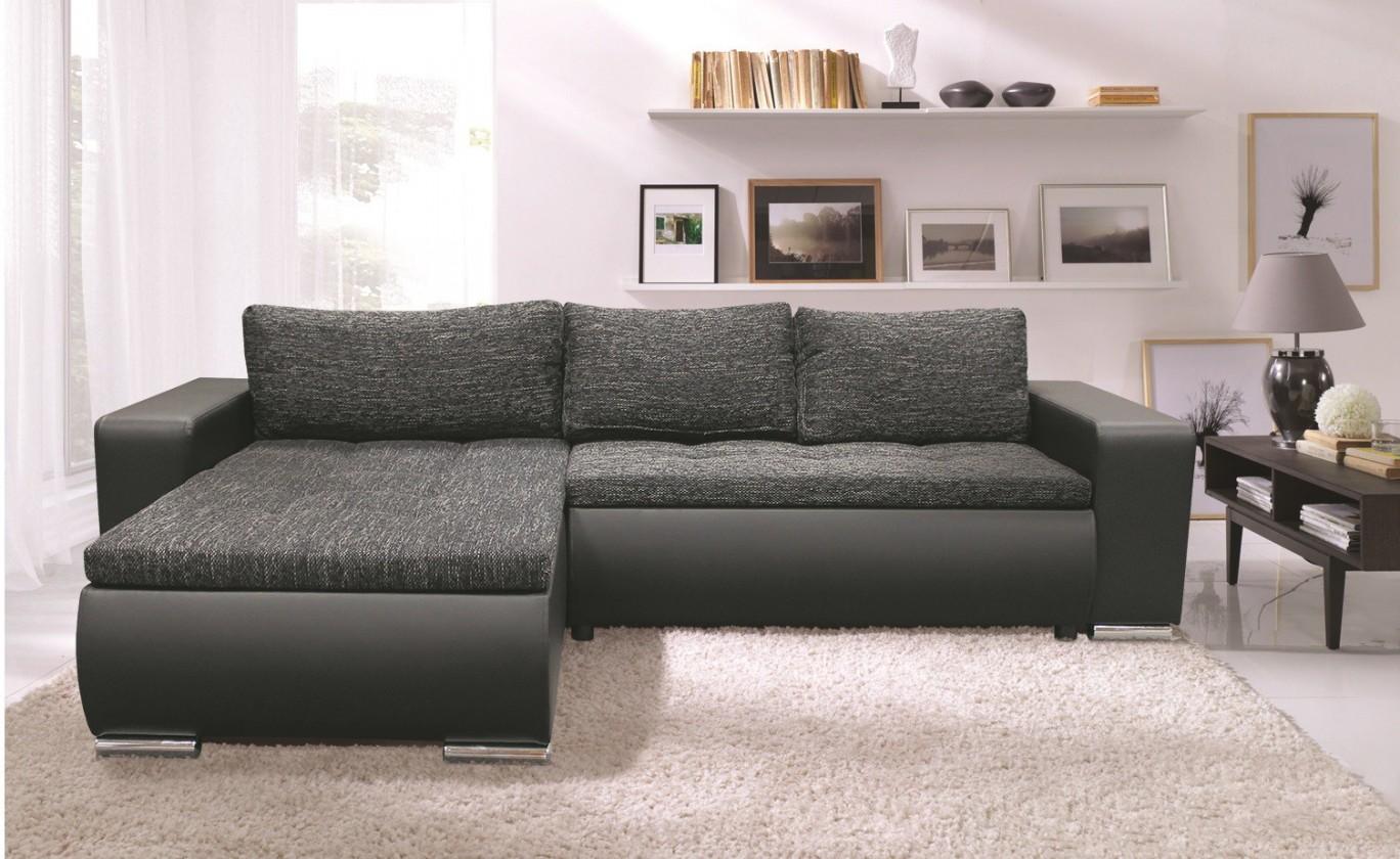 Rohová sedací souprava Rohová sedačka Enro univerzální (berlin 2/PVC, černá)
