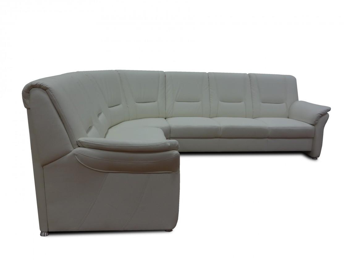Rohová sedací souprava Rohová sedačka Oman levý roh (antonio white, bílá, eko kůže)