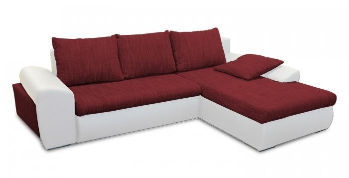 Rohová sedací souprava Rohová sedačka rozkládací Aspen pravý roh (madryt 120/bella 7)